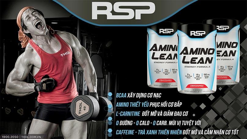RSP AminoLean cung cấp năng lượng, phát triển cơ bắp