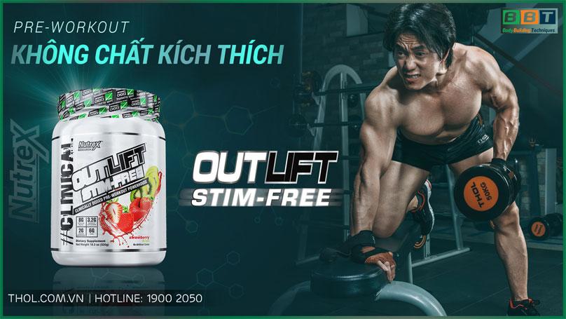 Outlift Stim-free - Preworkout mạnh mẽ không chất kích thích