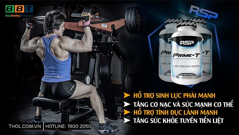 Prime-T tăng testosterone mạnh sinh lý cho gymer an toàn hiệu quả