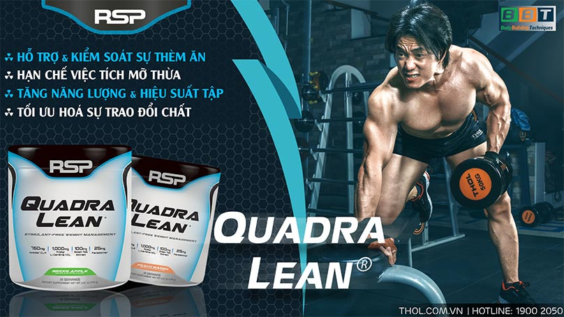 QuadraLean – Hỗ trợ trao đổi chất, tăng cơ giảm mỡ hiệu quả