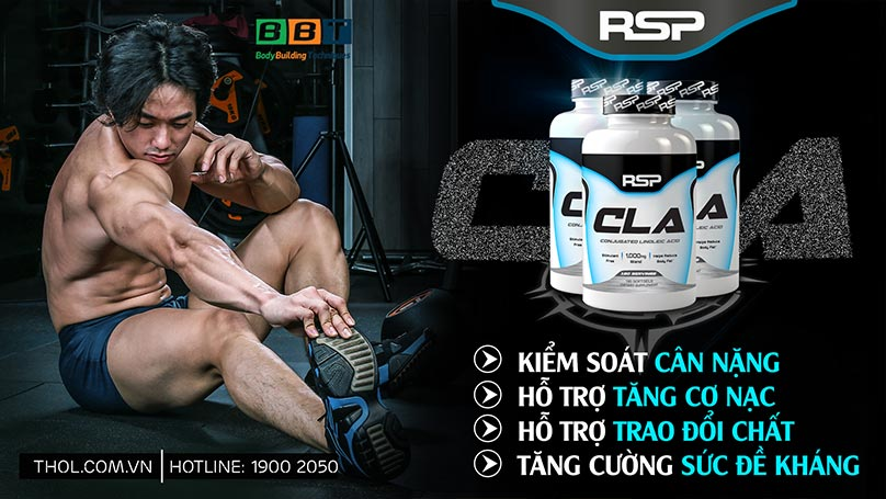 RSP CLA - Đốt mỡ giảm cân leanbody an toàn