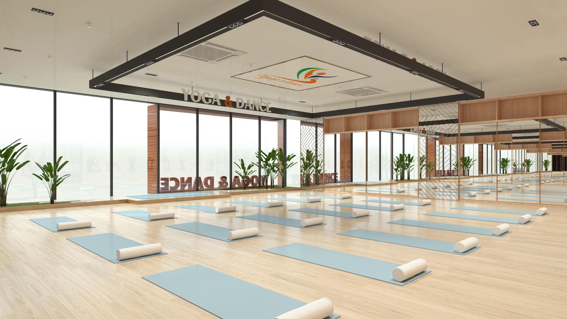 Không gian phòng dannce Yoga THOL quận 7 rộng rãi sang trọng thoáng mát