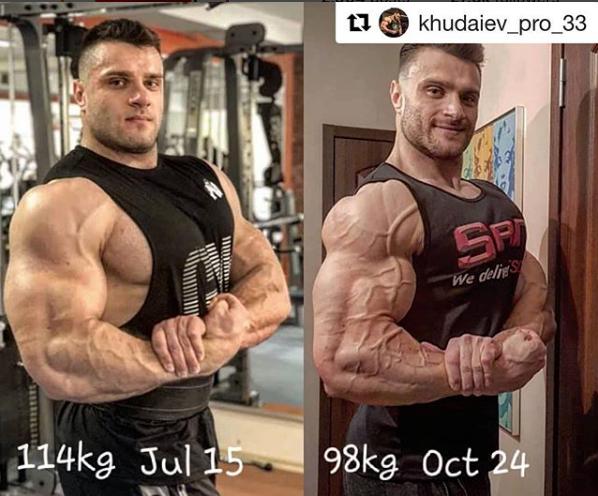 Sự thay đổi của Khudaiev sau khi dùng sản phẩm của SAN