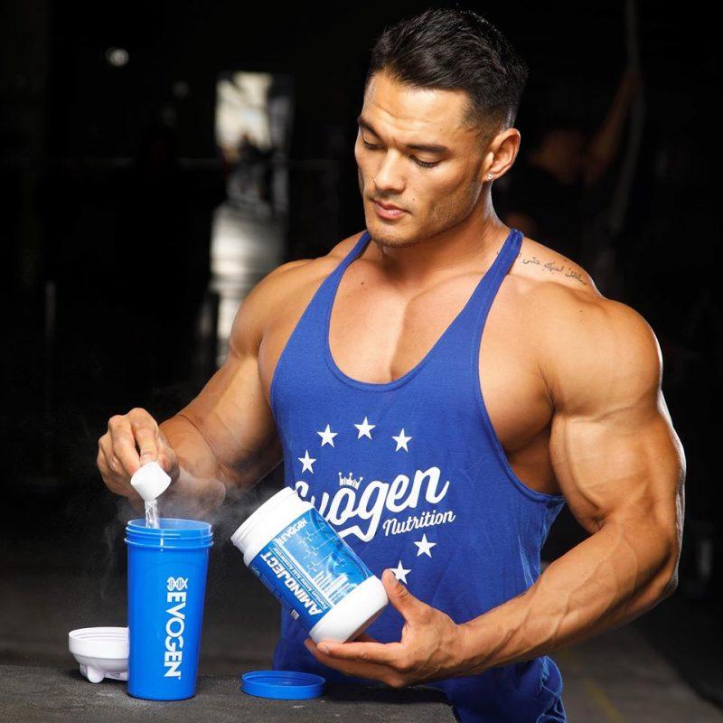 Anh ấy luôn sử dụng Evogen Amino Ject phục hồi xây dựng cơ bắp