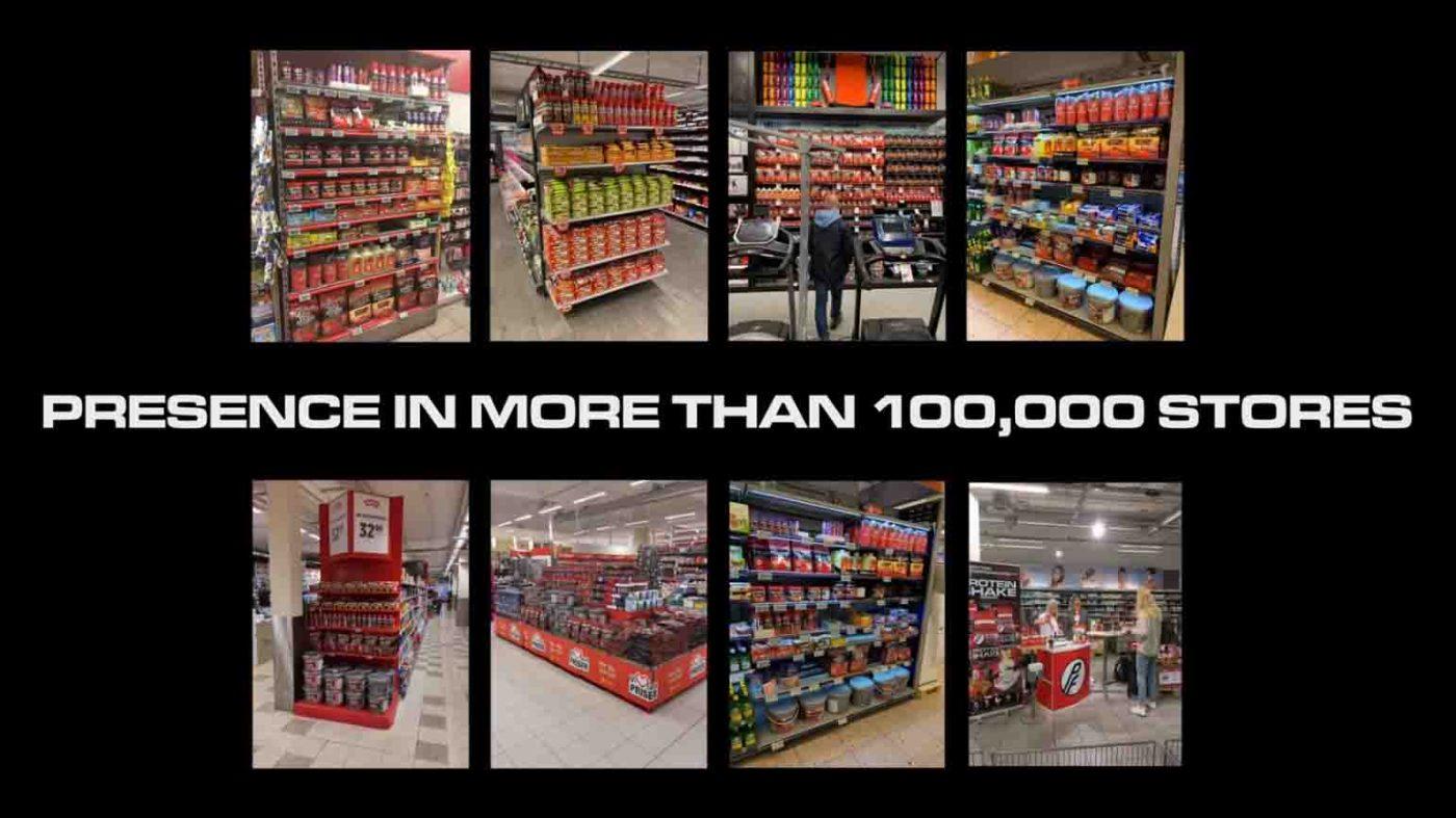 Sản phẩm của Proteinfabrikken có mặt ở hơn 100.000 cửa hàng