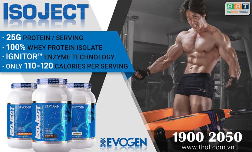 ISOJECT Premiumwhey protein isolate siêu tinh khiết