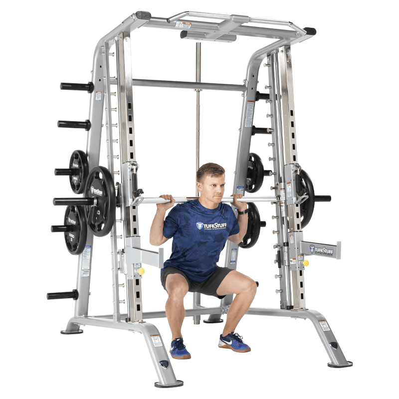 Smith Machine/Half Cage Combo with Safety Stoppers