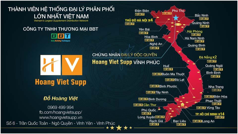 Hoàng Việt Supp đại lý thương hiệu của BBT tại Vĩnh Phúc