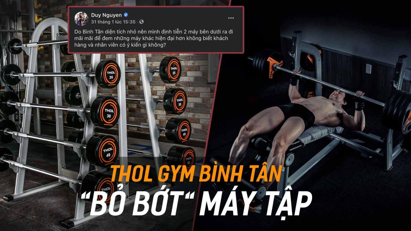 THOL Gym Bình Tân thanh lý máy tập